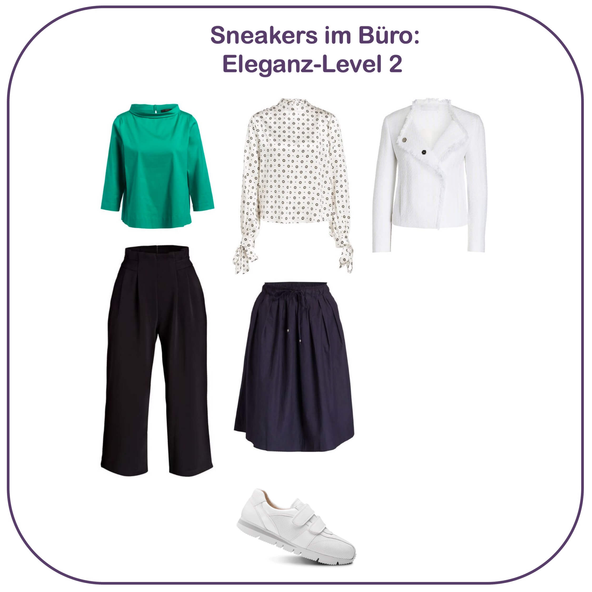 Sneakers im Büro - Eleganz-Level 2