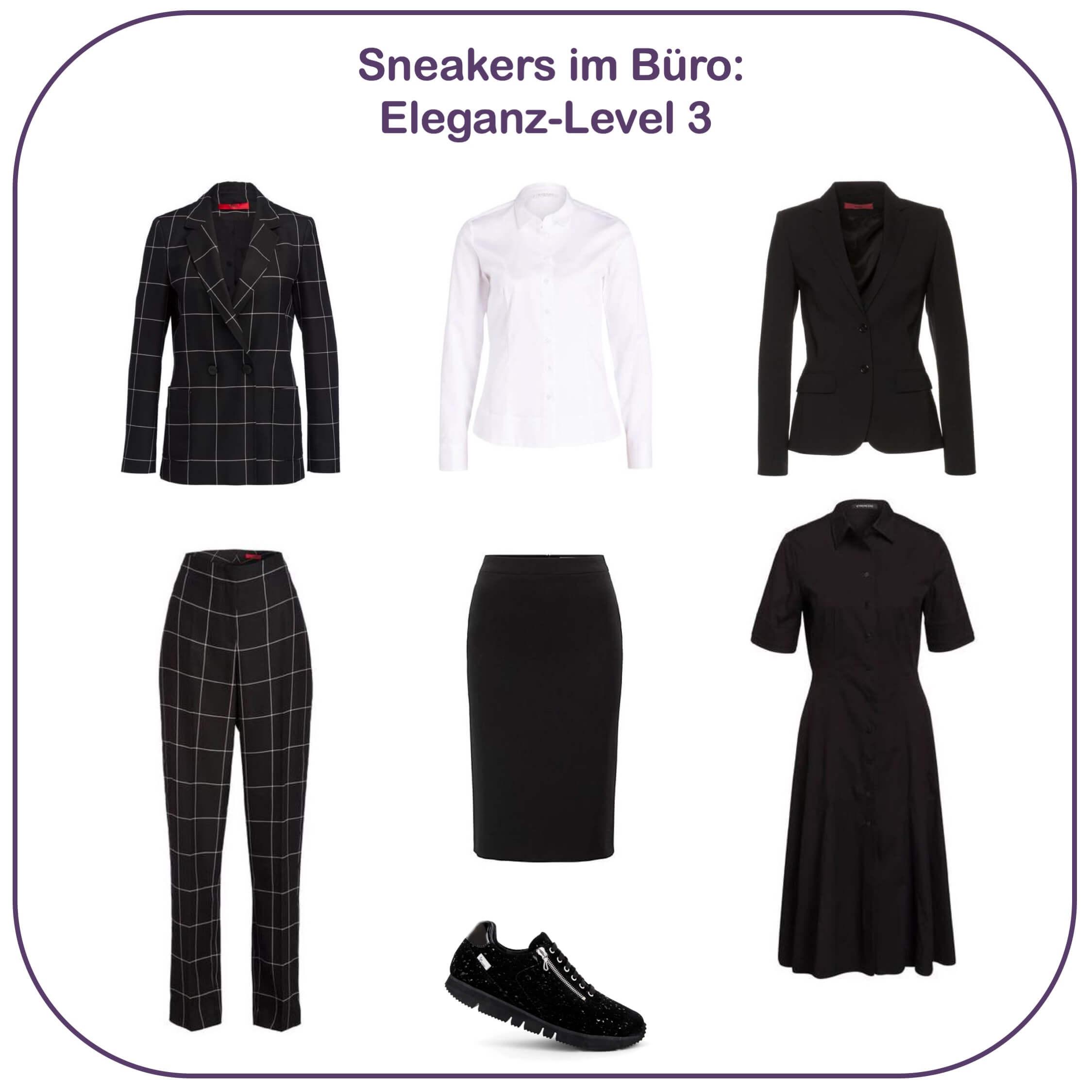 Sneakers im Büro - Eleganz-Level 3