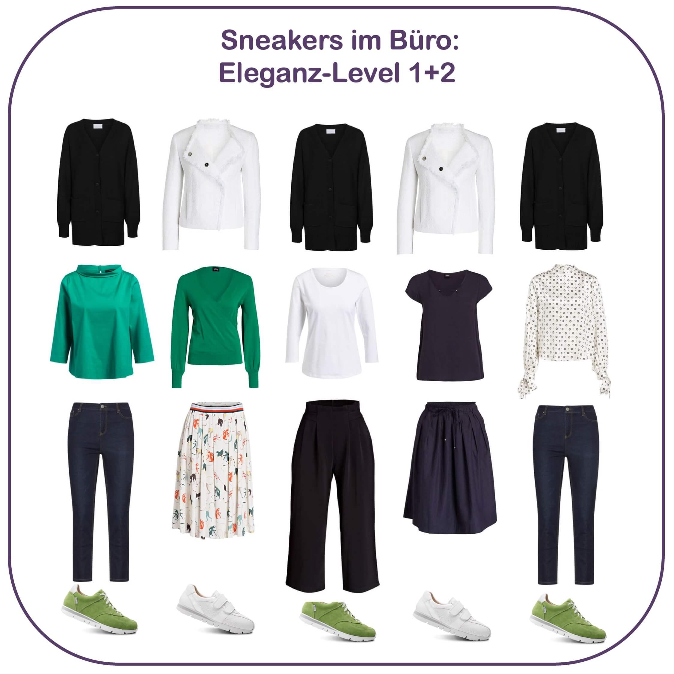Sneakers im Büro - Eleganz-Level 1 und 2