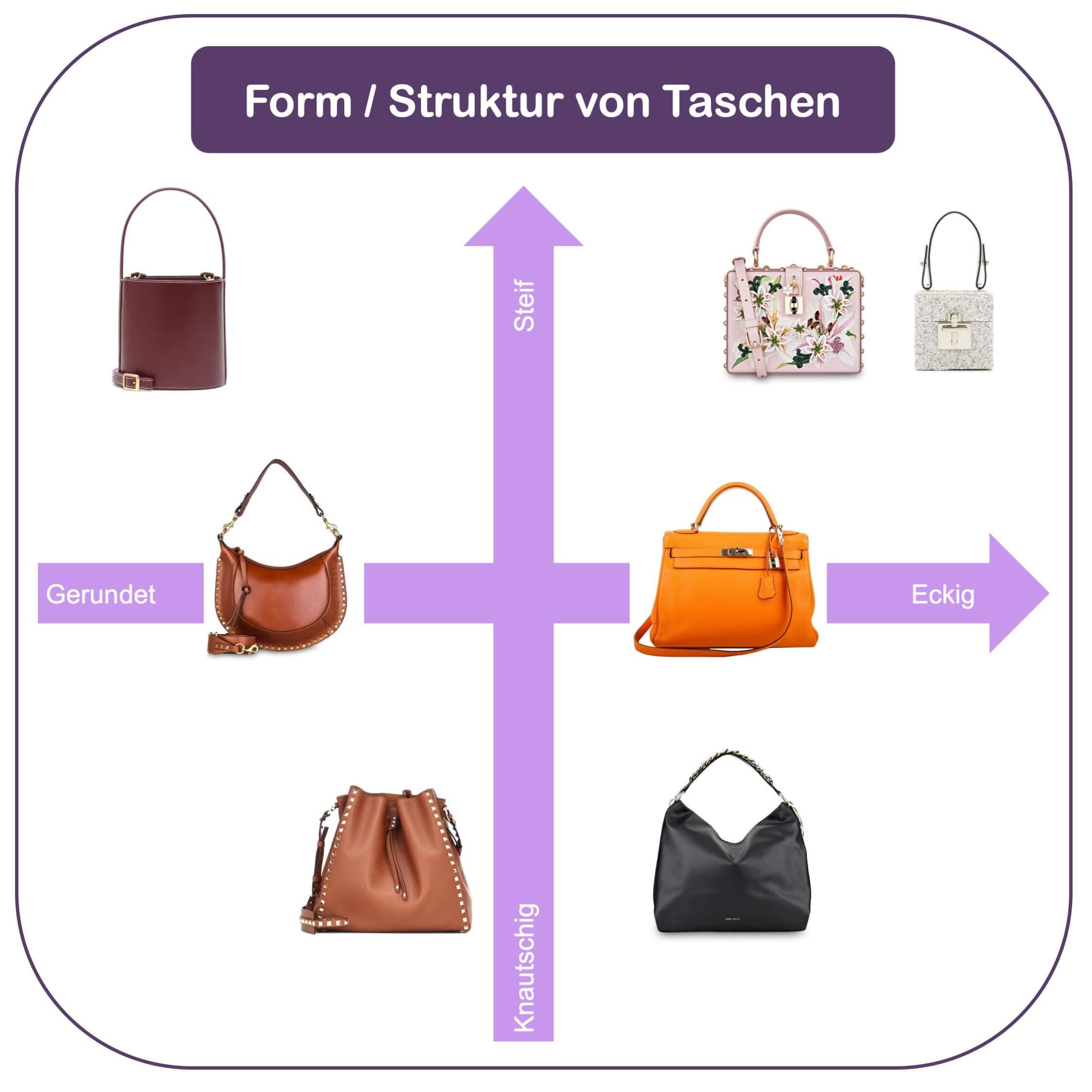 Passende Hadtasche finden - die Form der Tasche