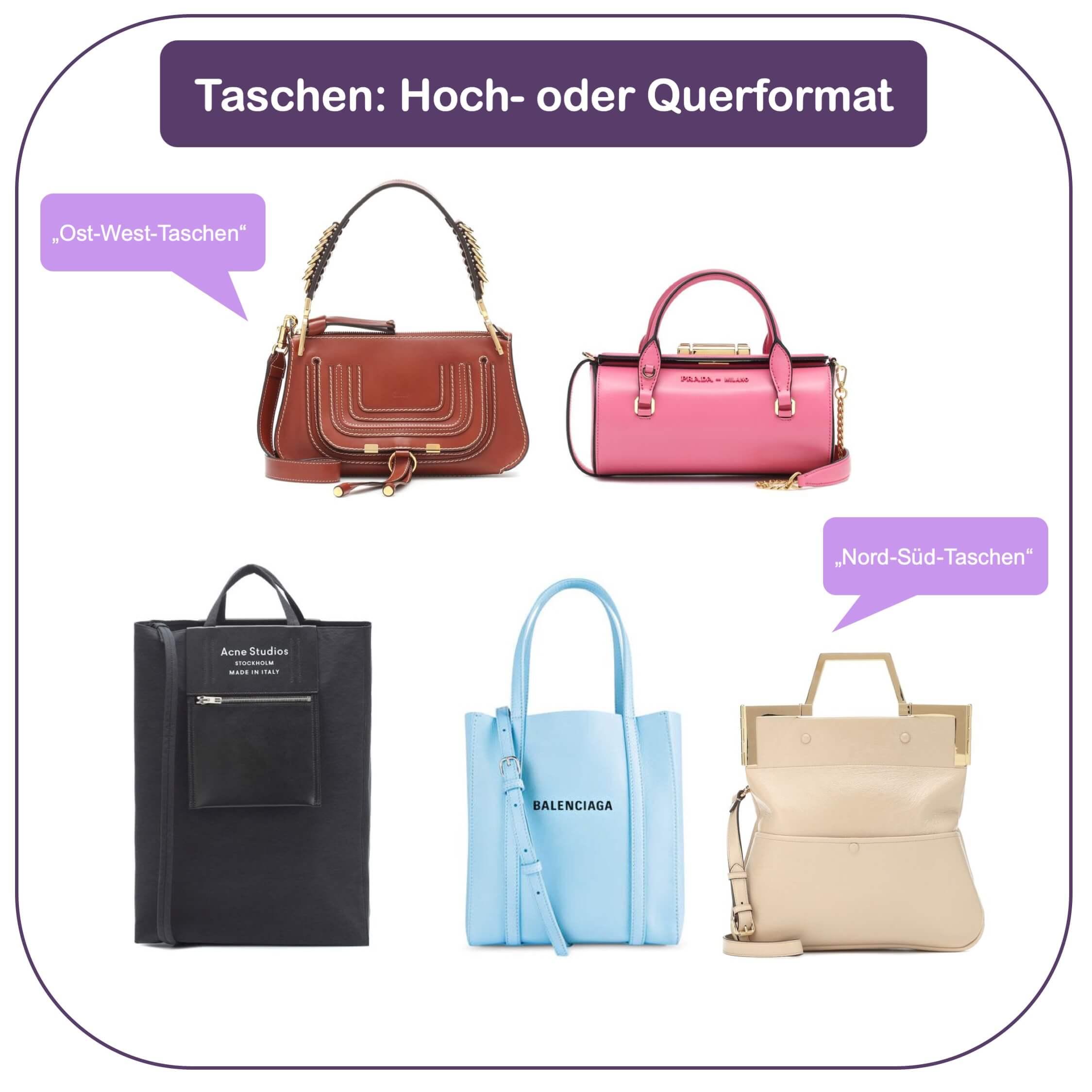 Passende Tasche finden - Hoch- oder Quer-Format
