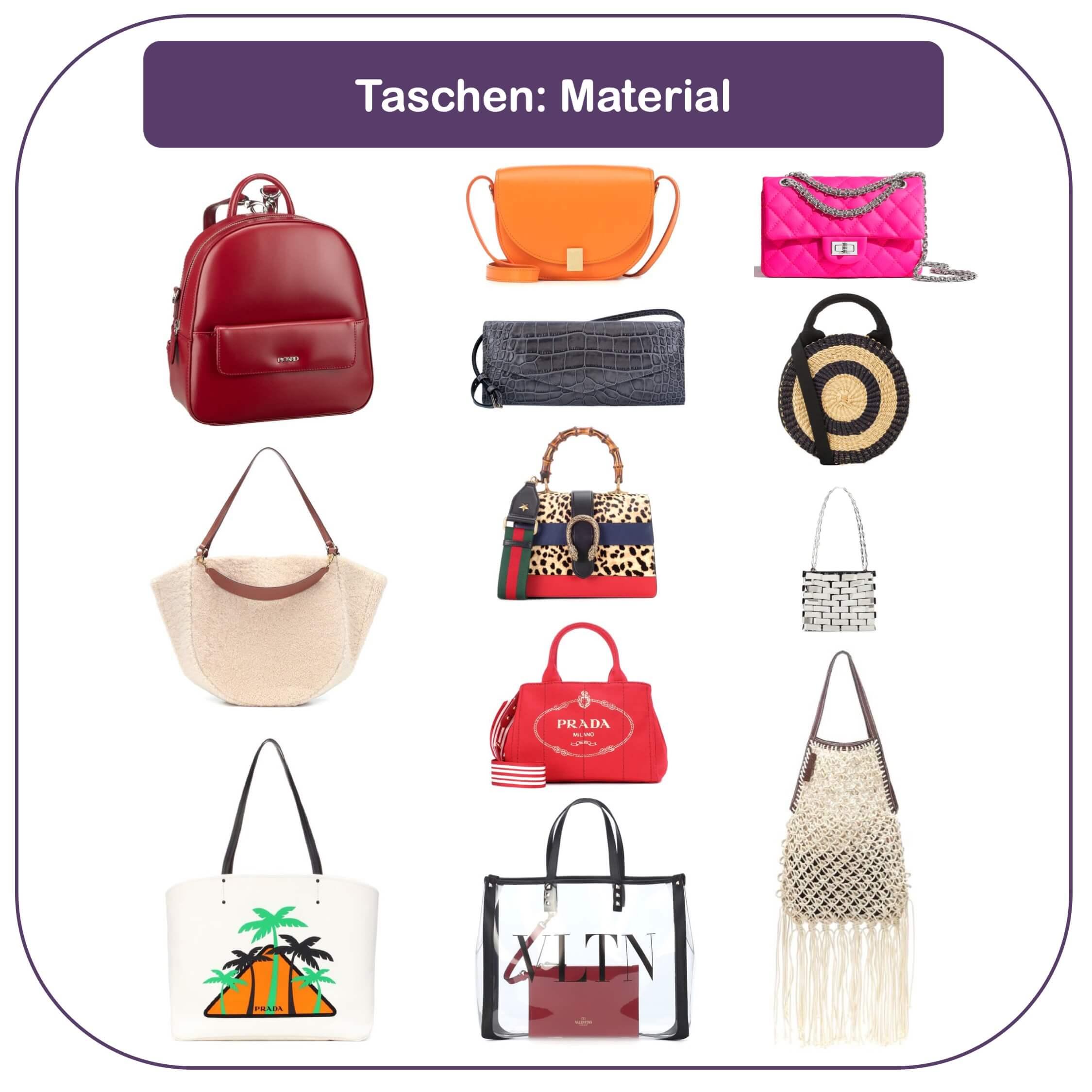 Die passende Handtasche finden - Leder und Material der Tasche