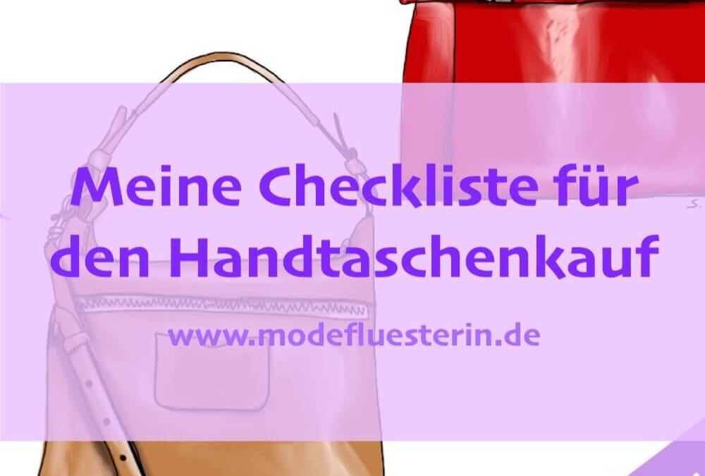 Fashion-Fahrplan: Die Checkliste zum Handtaschenkauf
