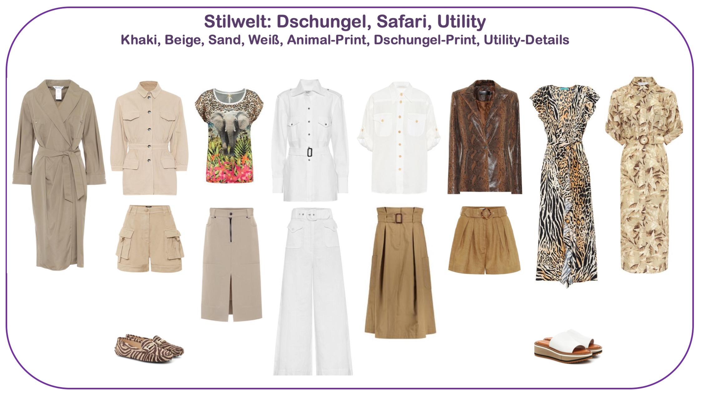 Modetrends Frühjahr/Sommer 2020 - Stilwelt Safari, Utility