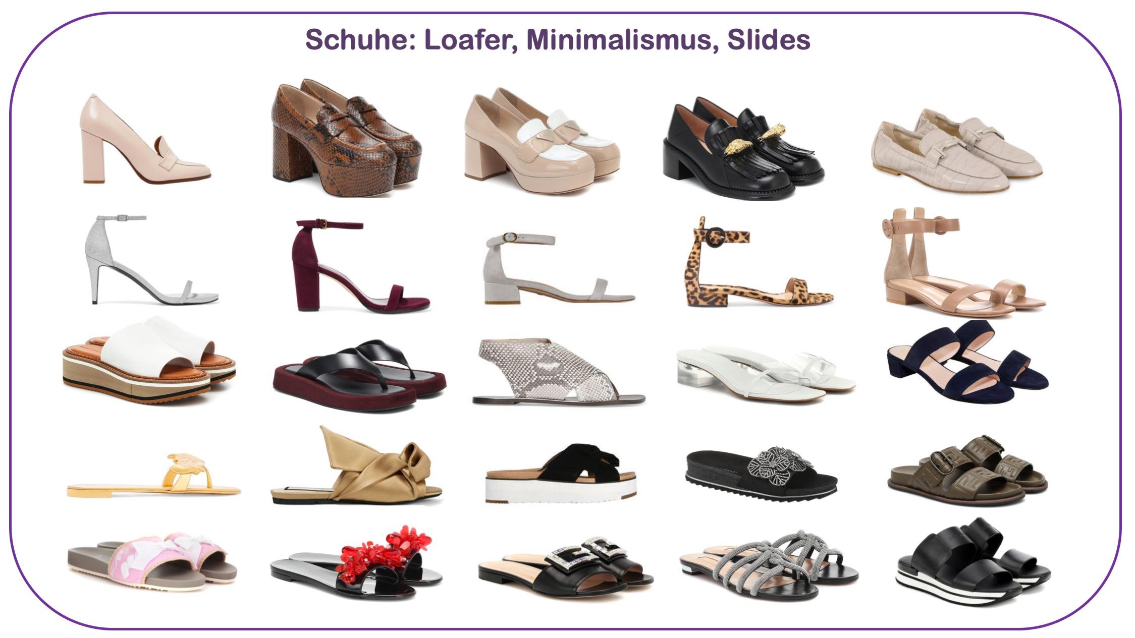 Modetrends Schuhe Loafer Slides und Minimalismus