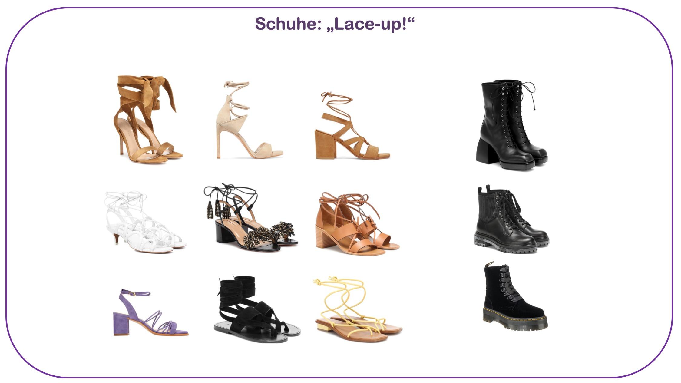 Modetrends Schuhe mit Schnürung und Fesselriemen