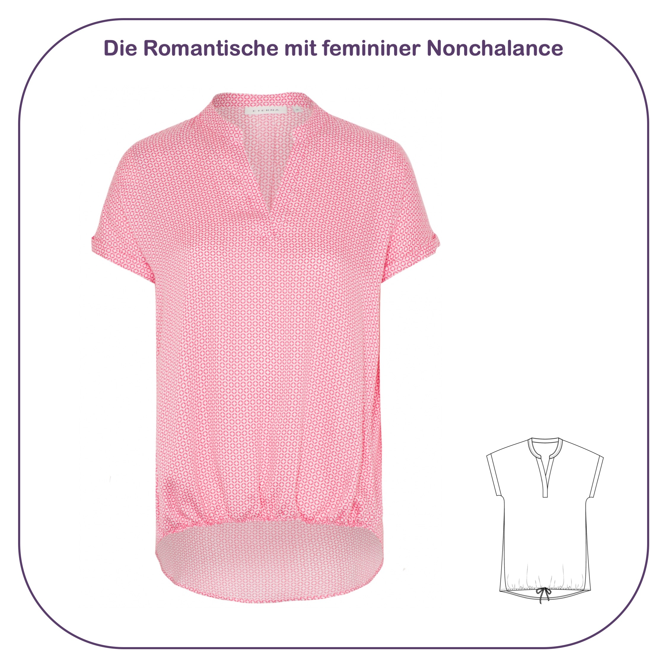 Romantische Bluse mit Punktemuster im sportlich-femininen Stil