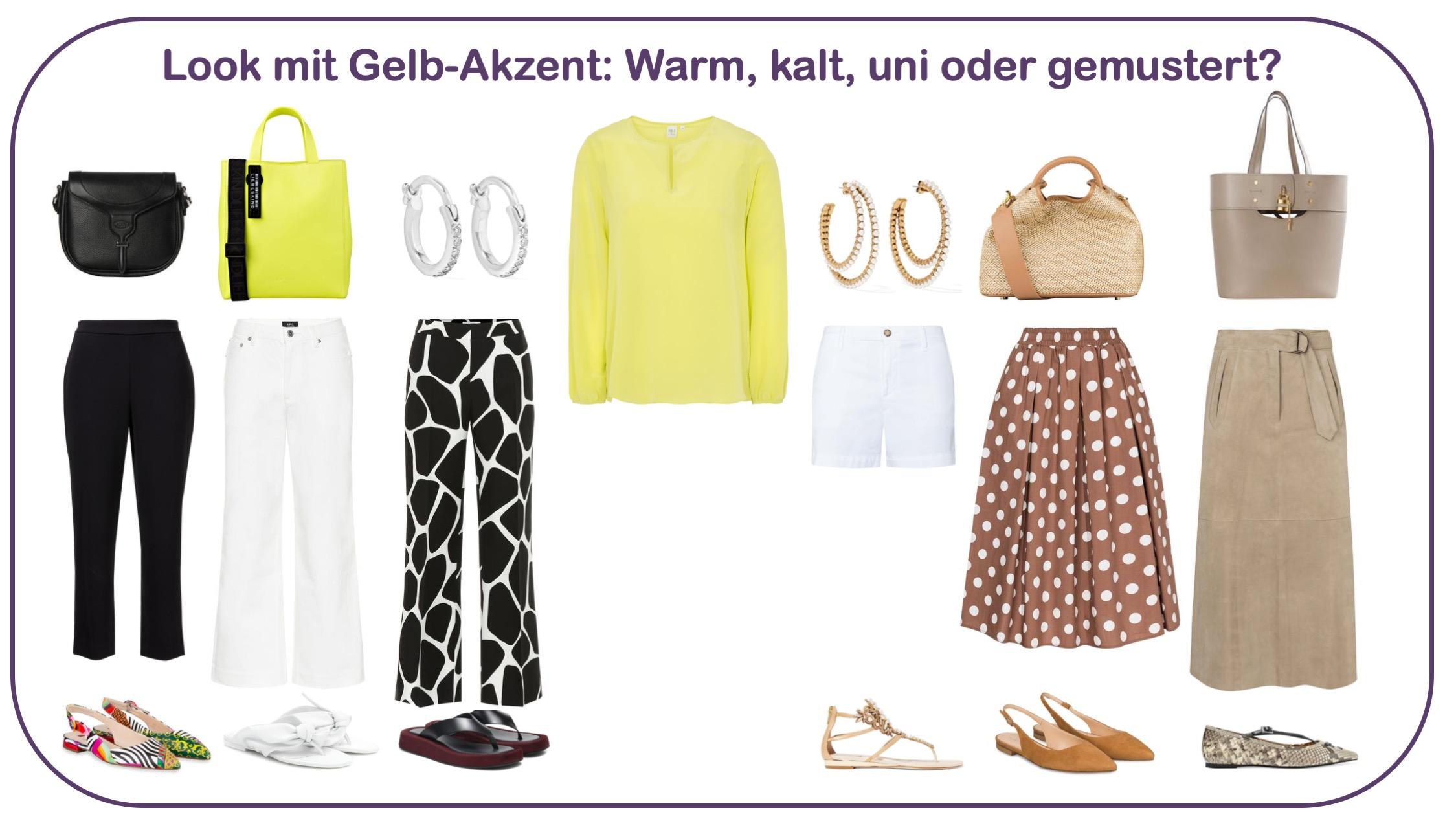 Blusen gewinnen und kombinieren: Outfits mit gelbem Akzent