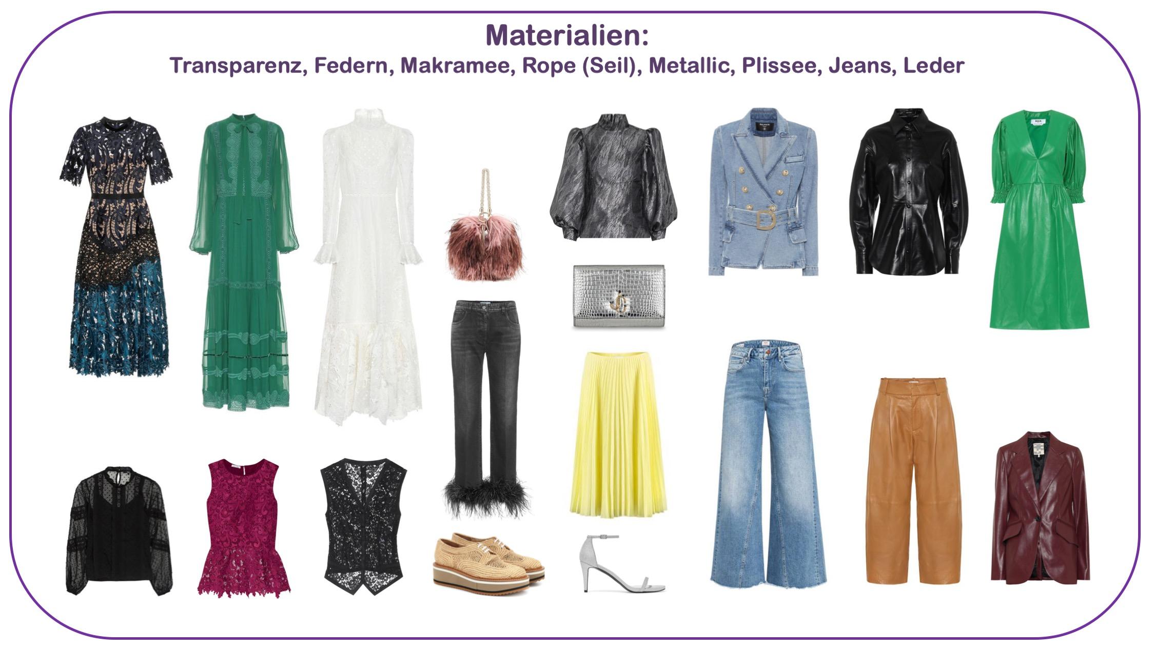 Modetrends FS 2020 - Stoffe und Materialien