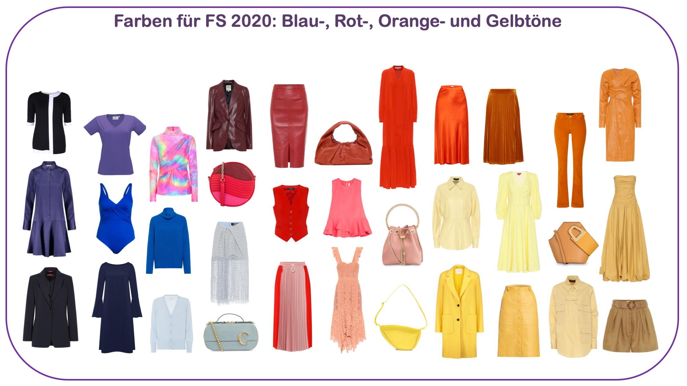 Modetrends FS 2020 - Farben