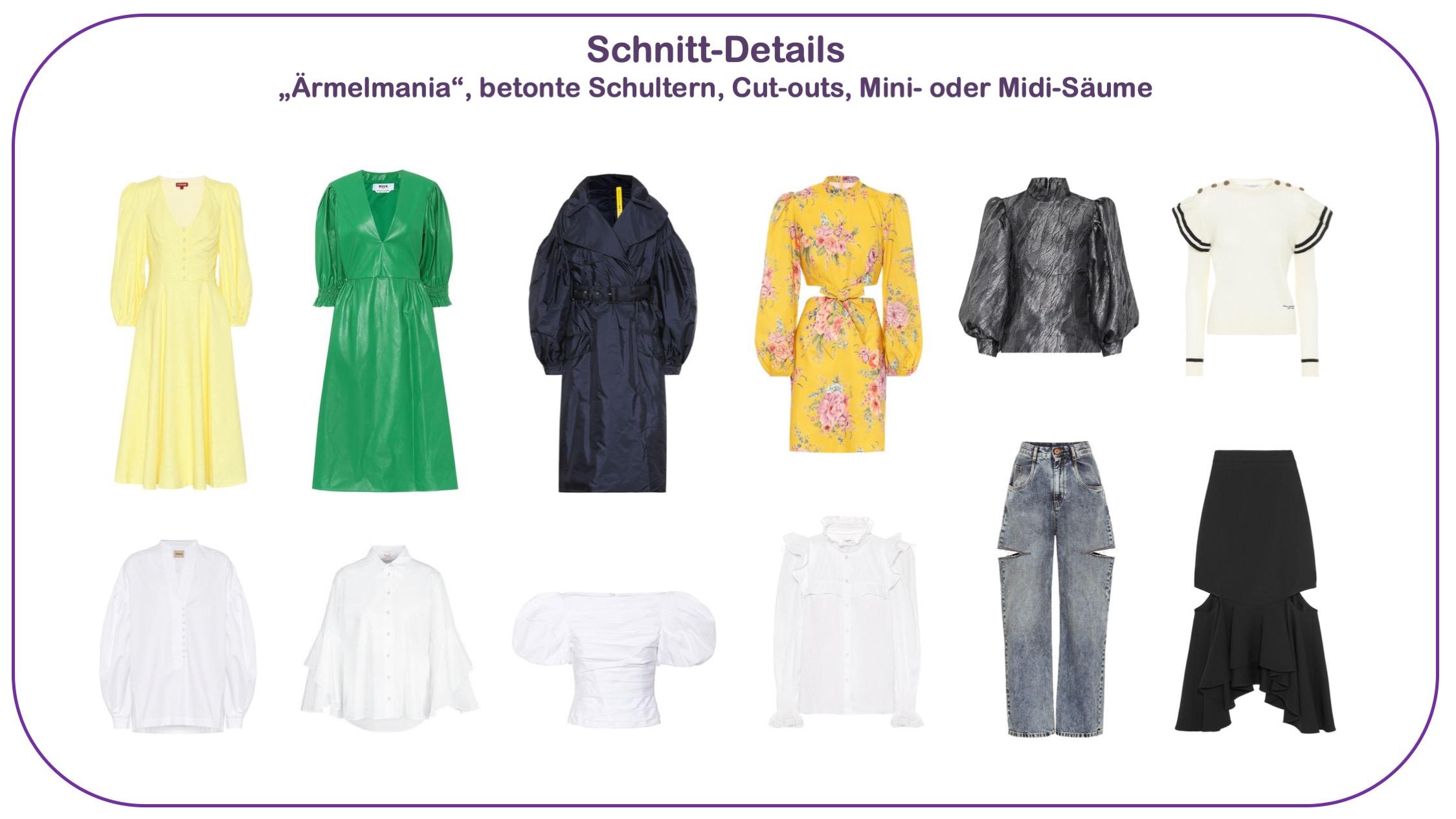 Modetredsn Frühjahr/Sommer 2020 - Schnitt-Details für Frauen über 40