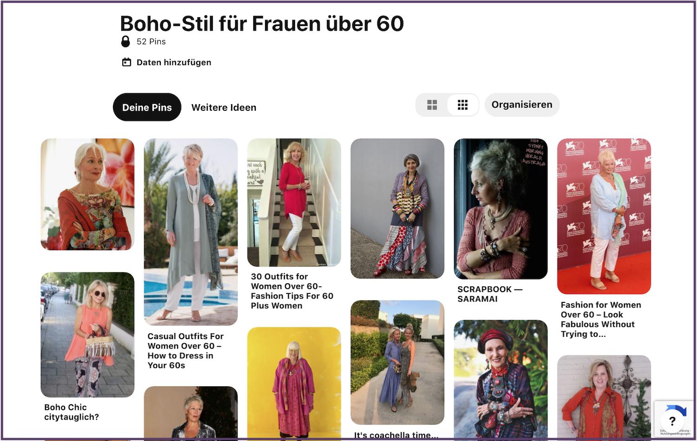 Boho-Stil für Frauen über 60 - ein Pinterestboard