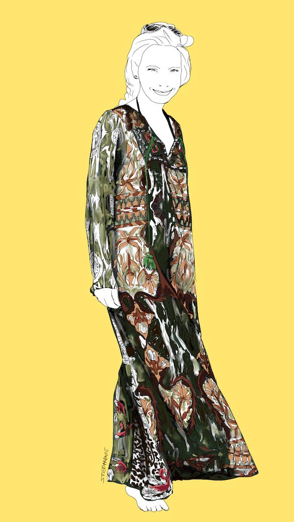 Boho-stil für Frauen über 60 - Outfit-Beispiel von Margarita