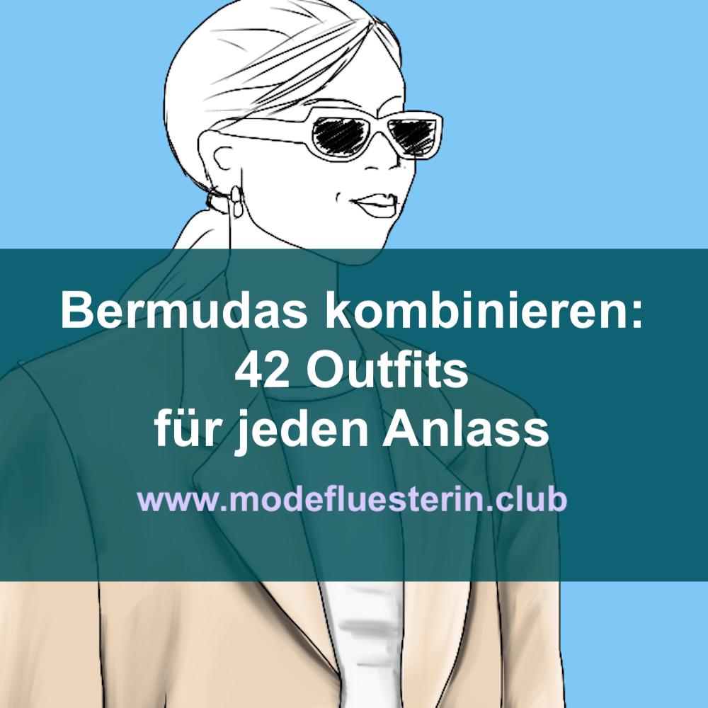 Bermuda-Shorts kombinieren - weiße Bermudas mit beigem Blazer