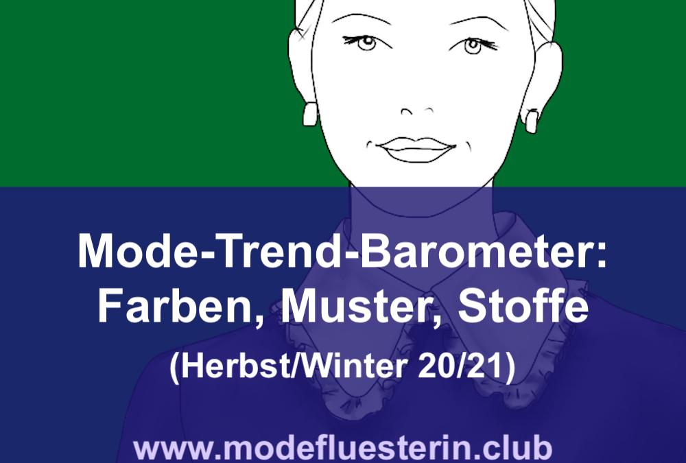 Modeflüsterin-Trend-Barometer Herbst/Winter 2020/21: Farben, Muster und Materialien (Teil 2)