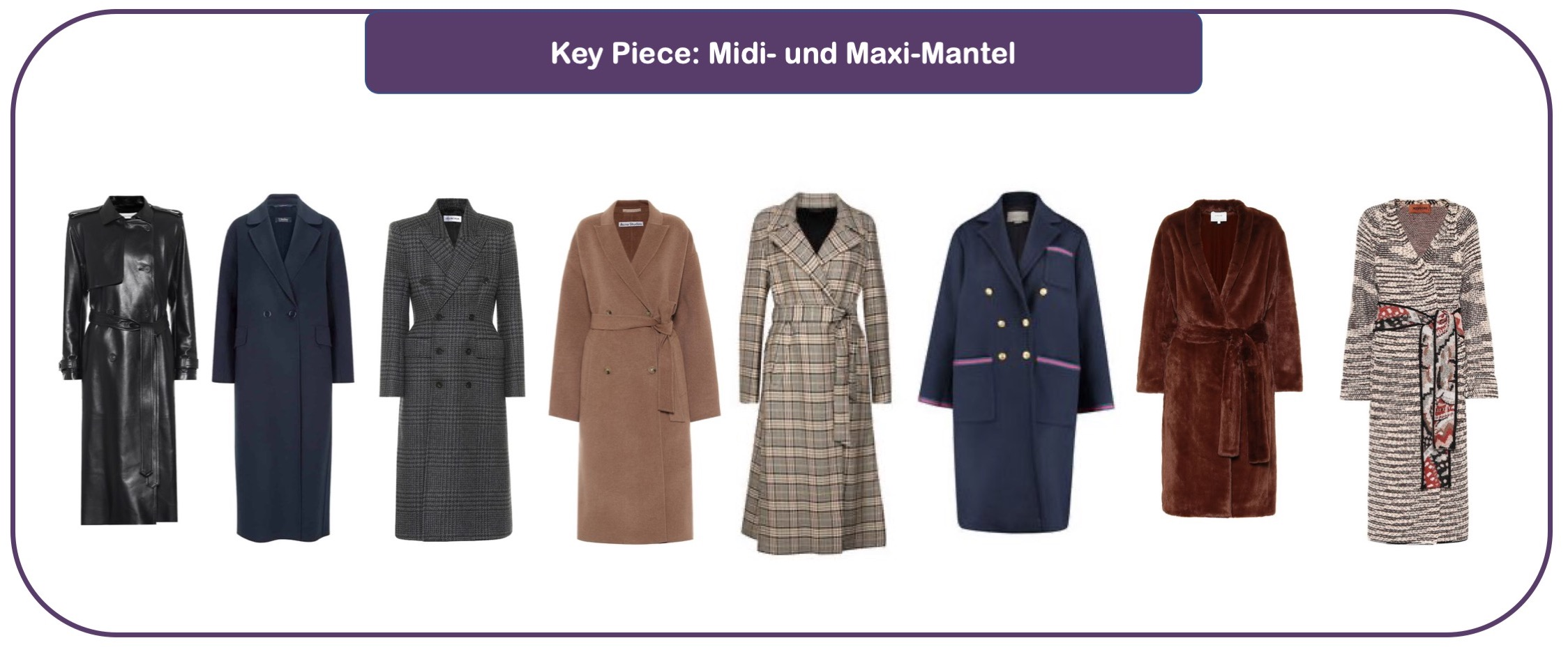 Key-Pieces langer Mantel für Herbst und Winter 20/21