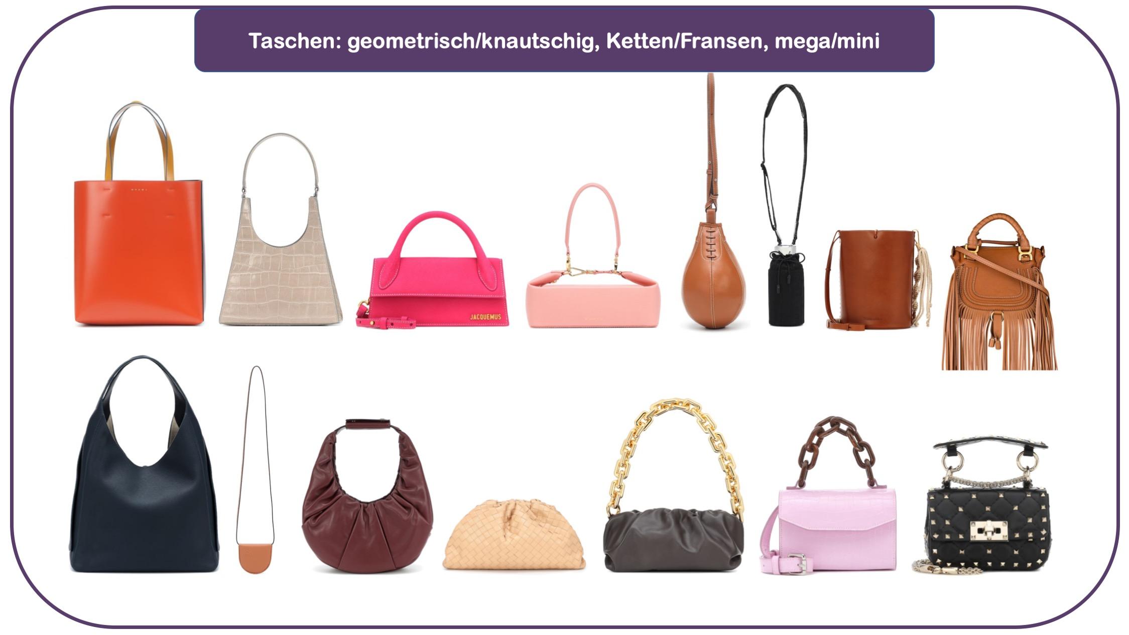 Schuh- und Taschen-Trends - Trend-Accessoires - Taschen für Herbst und Winter 20/21