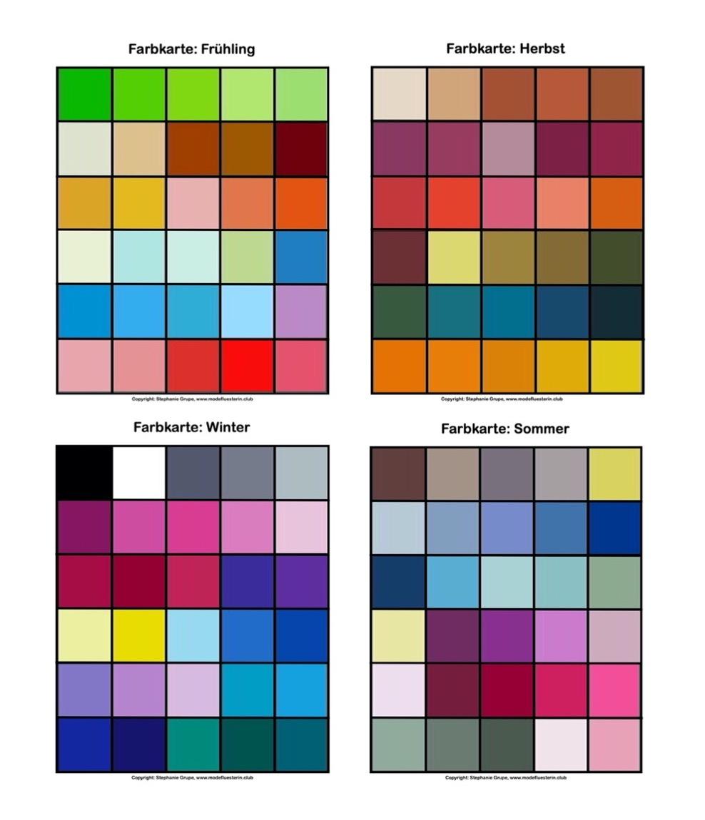 Farbtypen in der Farbenlehre für Mode