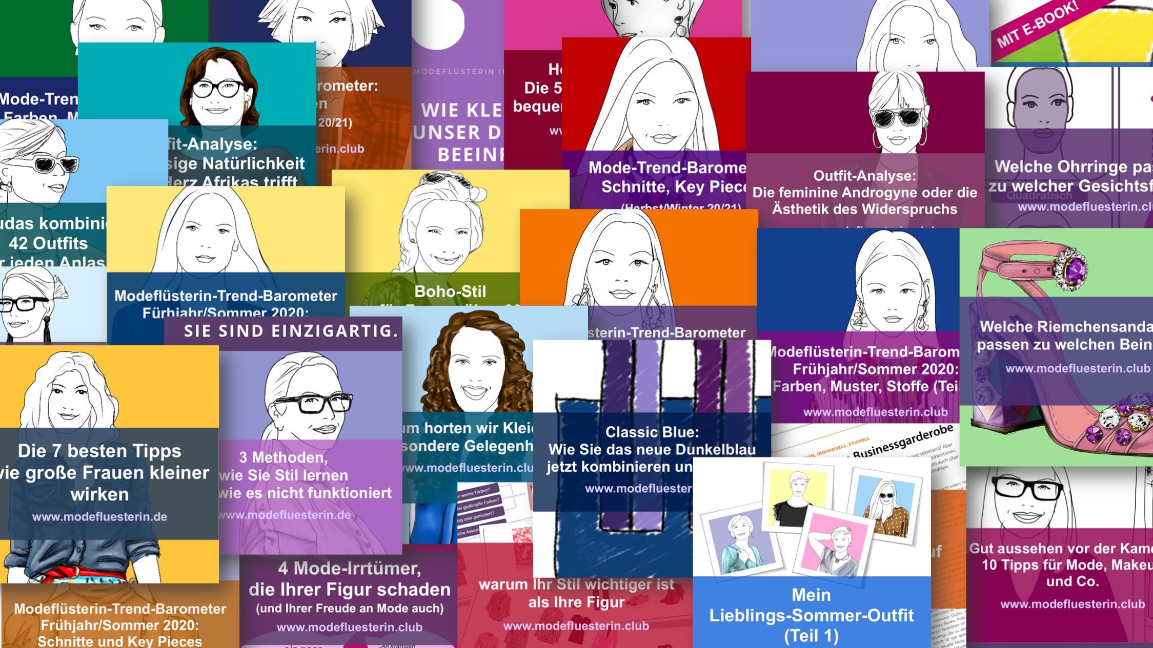 Modeflüsterin - der Fashionblog für starke Frauen über 40, 50 und 60 - Blogbeiträge der Modeflüsterin zu unterschiedlichen Themen rund um Mode und Stil für Frauen über 40, 50 und 60