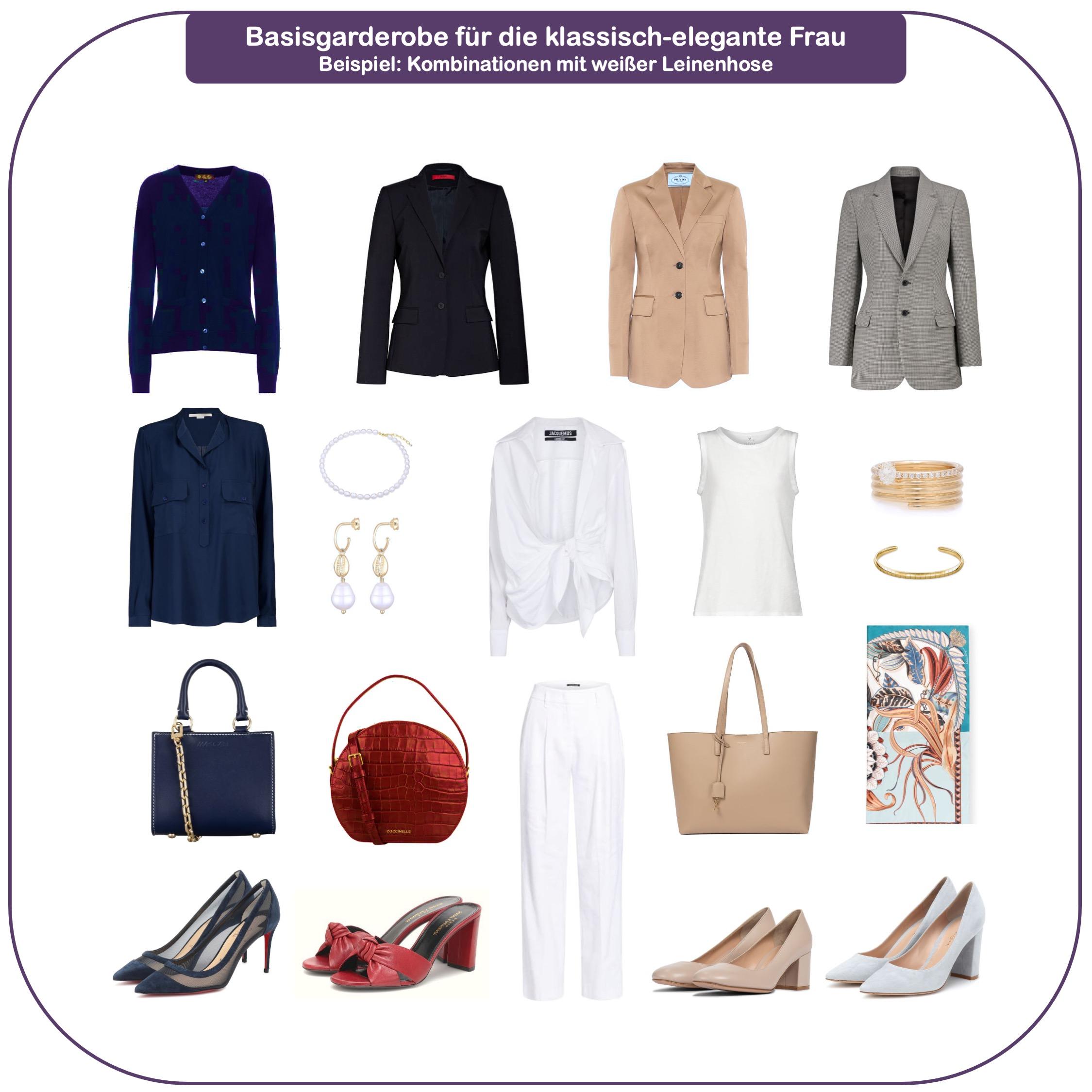 Basisgarderobe für die klassisch-elegante Frau ab 40 - Basics weiße Leinenhose