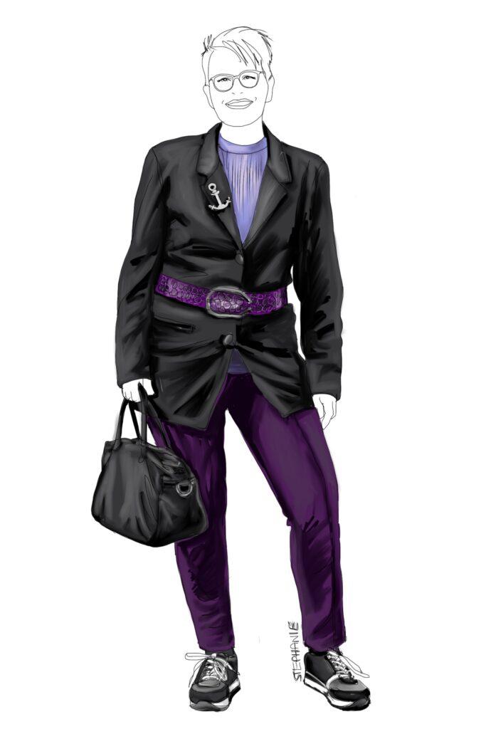 alte Kleidungsstücke neu kombinieren - ein alter Gehrock wird neu kombiniert