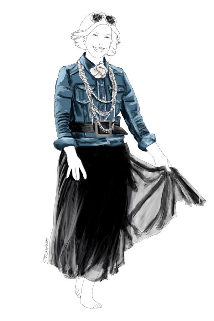 eine alte Jeansjacke wird neu kombiniert
