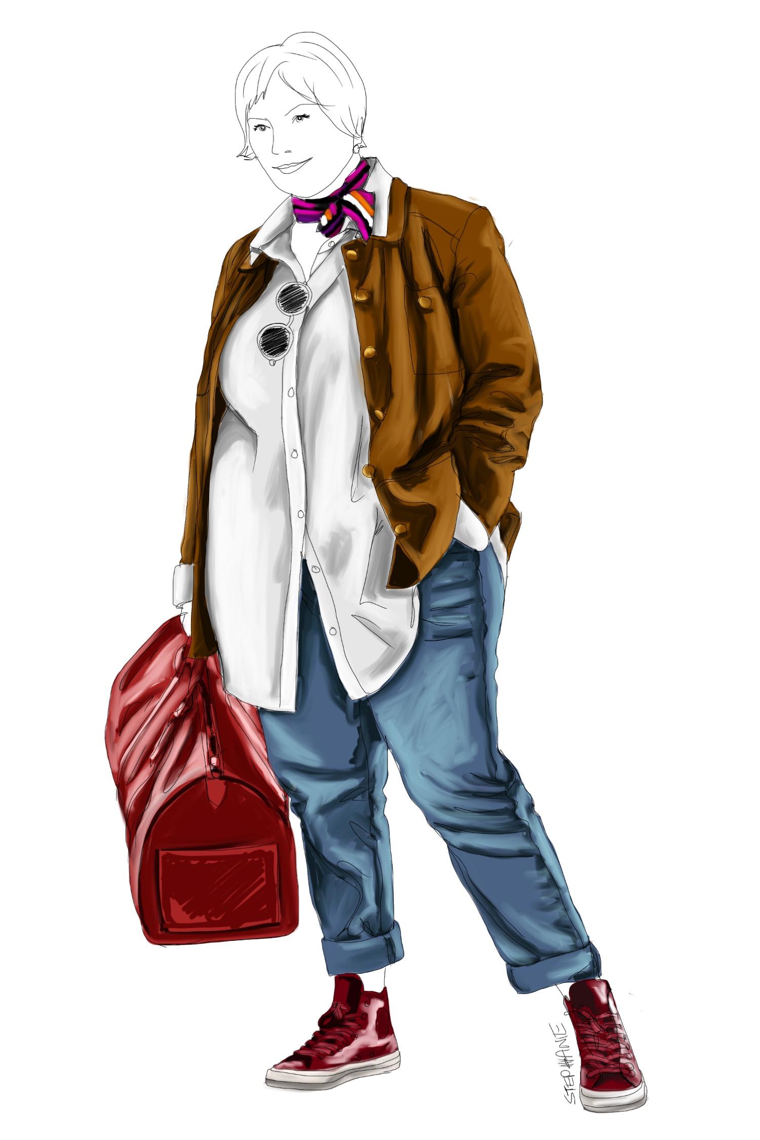 alte Kleidungsstücke trendy stylen - wie man eine alte Lederjacke neu kombiniert