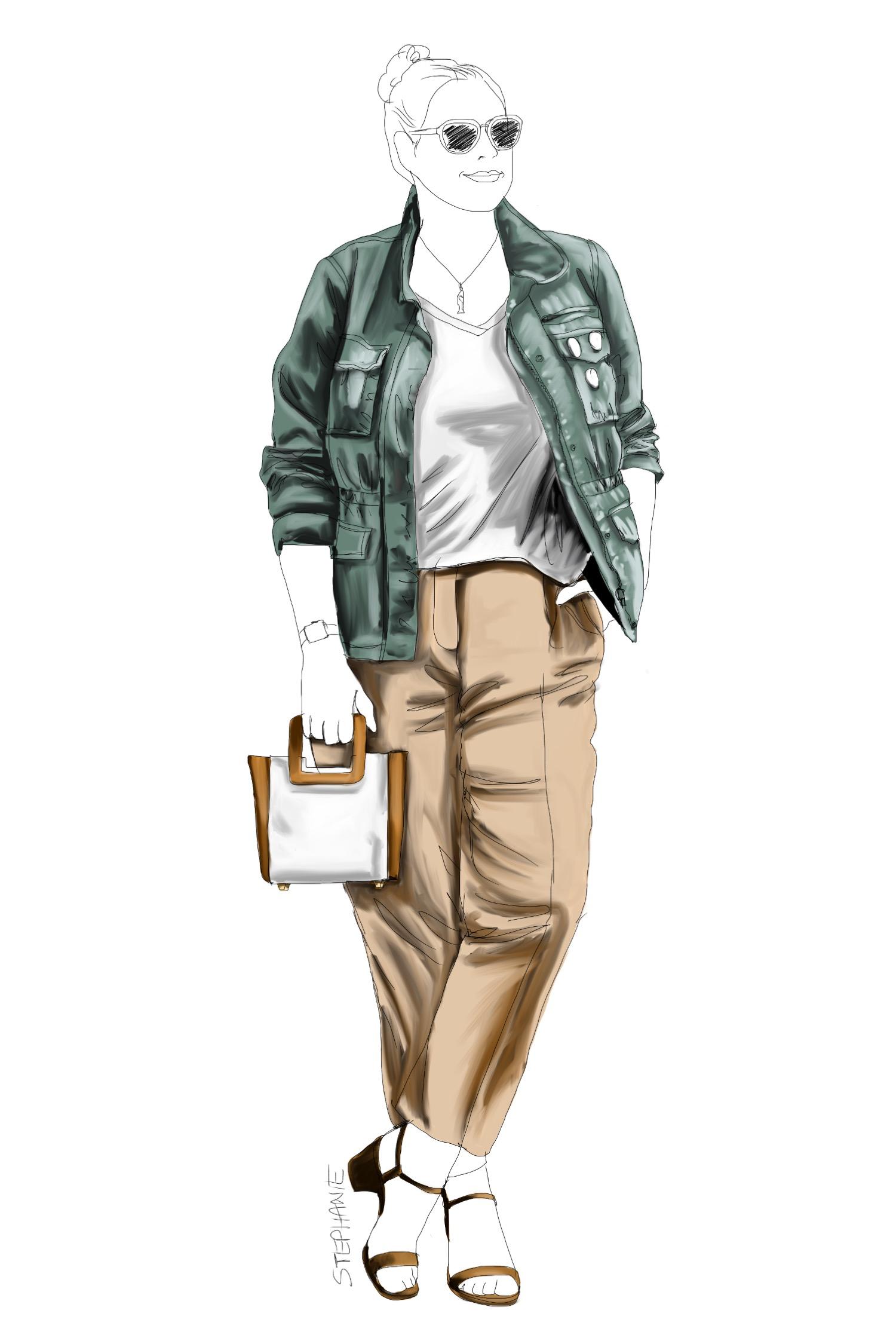wie man eine alte Utility-Jacke neu kombiniert