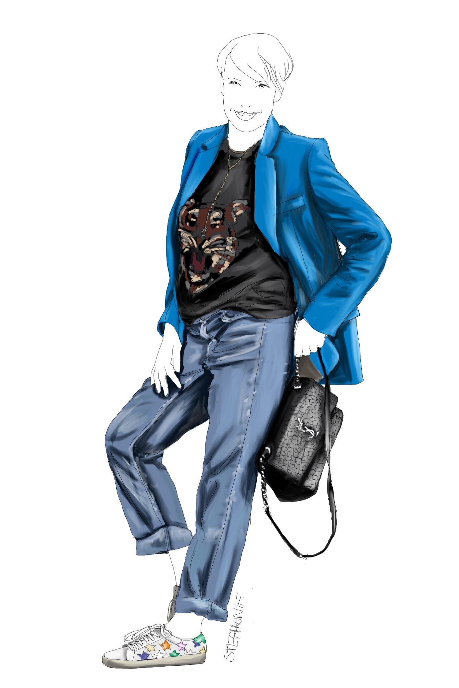 alte Kleidungsstücke trendy stylen - wie man eine alte Boyfriend-Jeans neu kombiniert