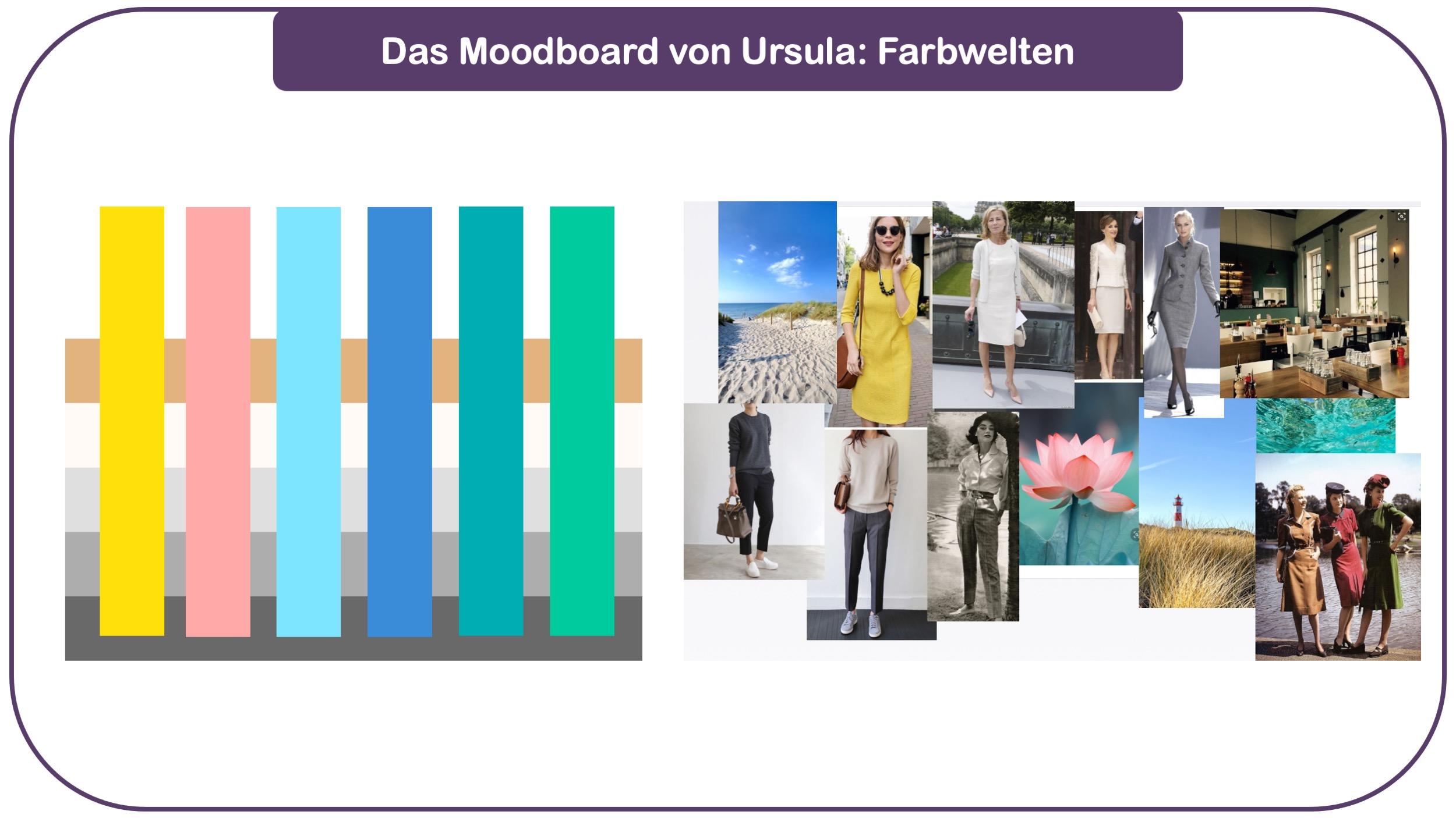 Fashion-Moodboard von Ursula mit farbenwelt