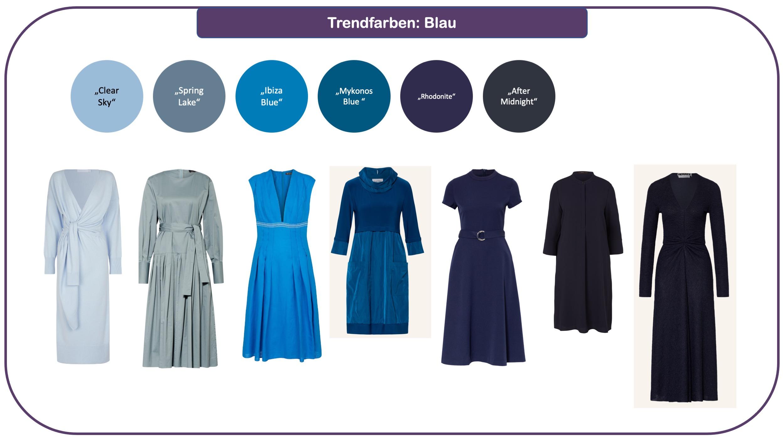 Trendfarben für Herbst und Winter 2021/22: Blau-Nuancen