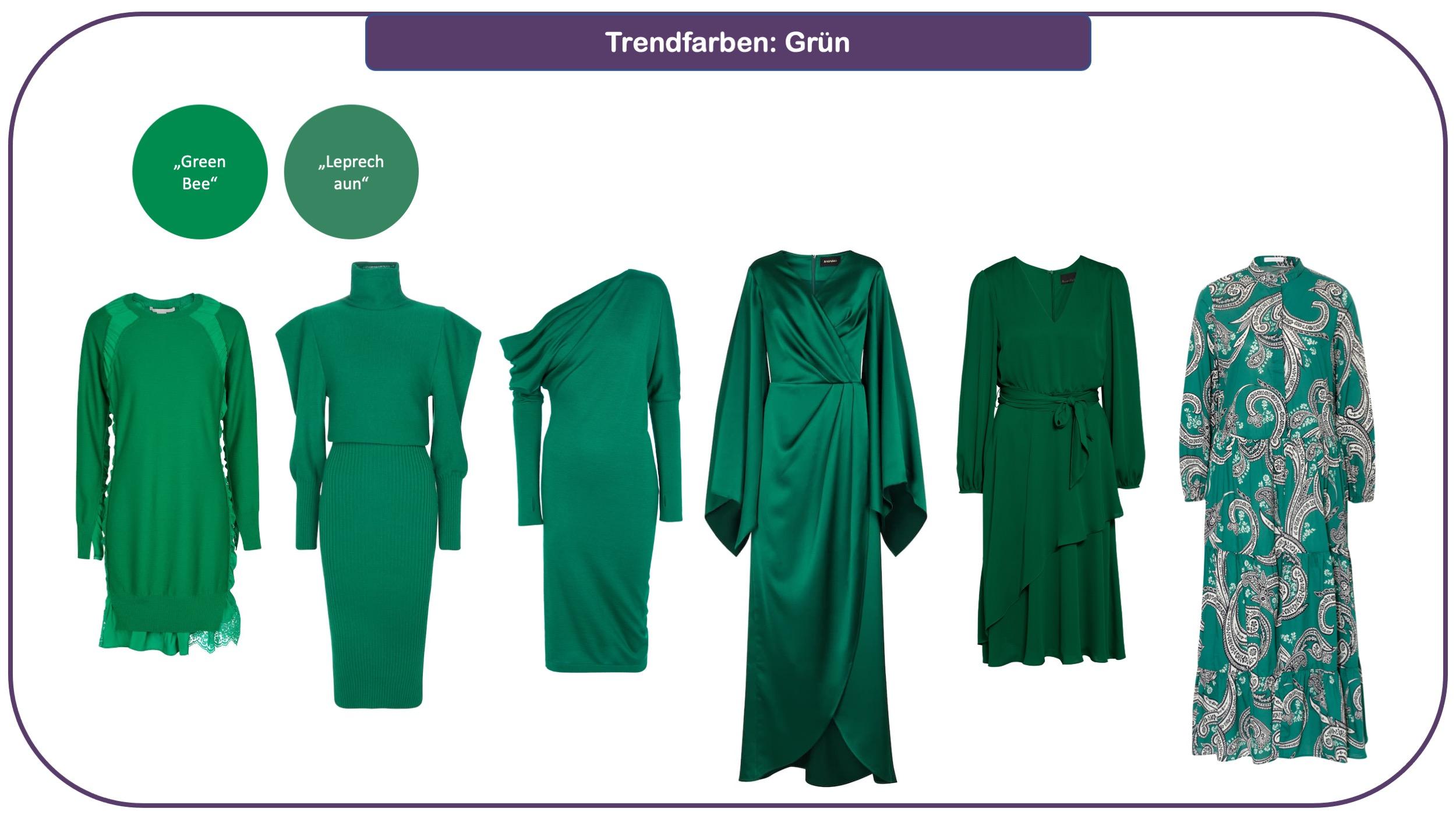 Trendfarben für Herbst und Winter 2021/22: Grün