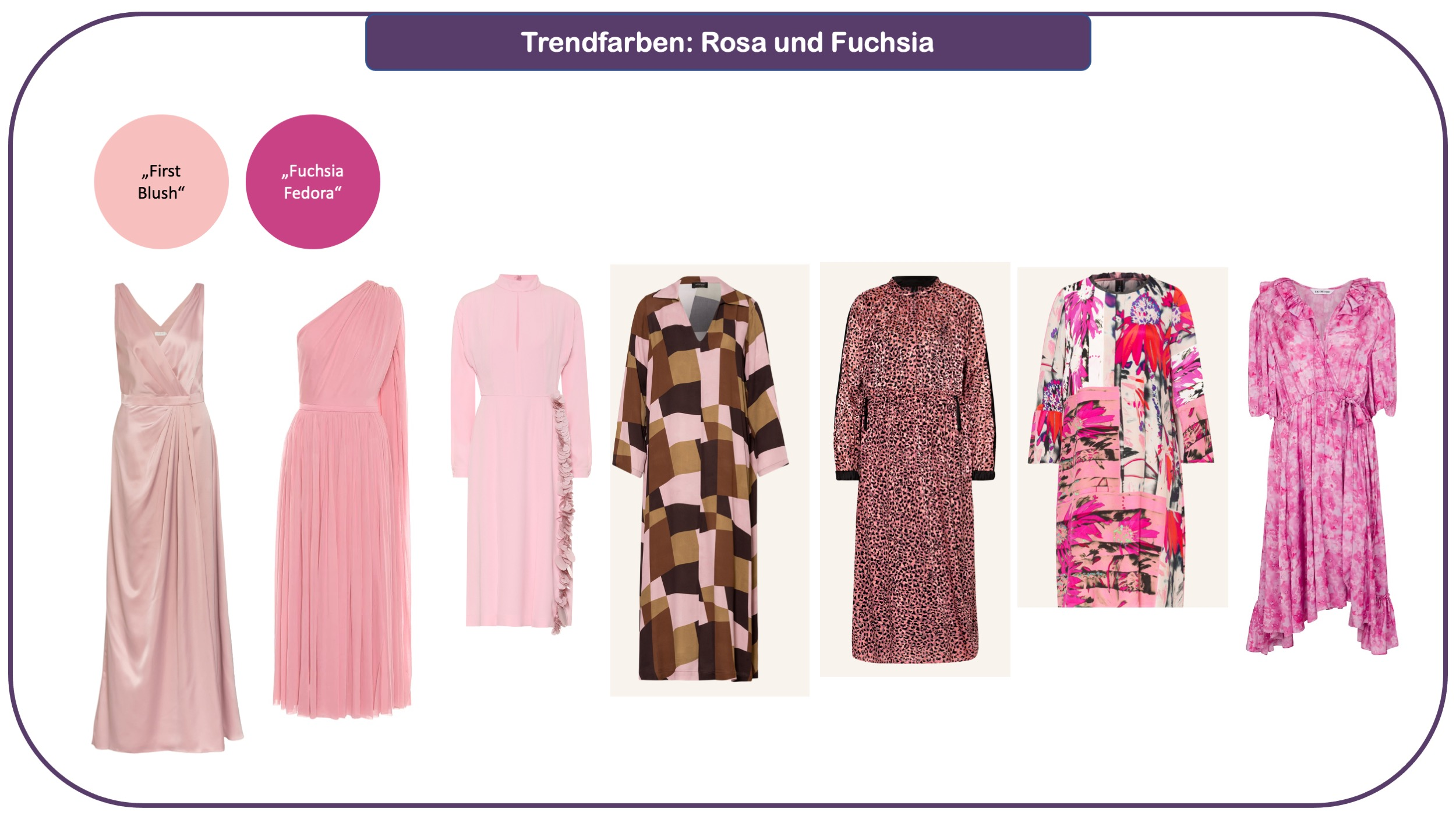 Trendfarben für Herbst und Winter 2021/22: Rosa und Fuchsia