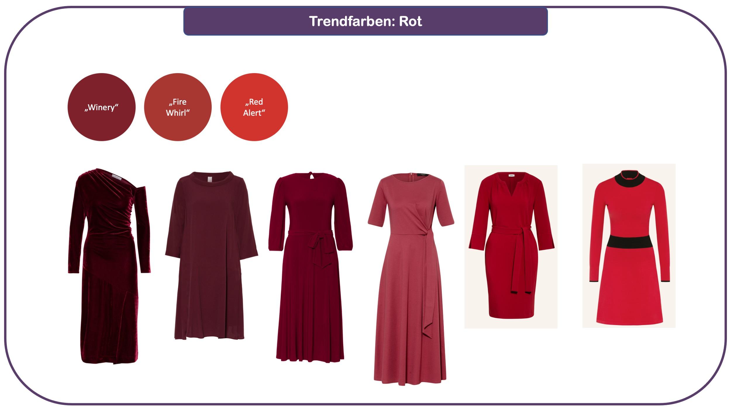 Trendfarben für Herbst und Winter 2021/22: Rot-Nuancen