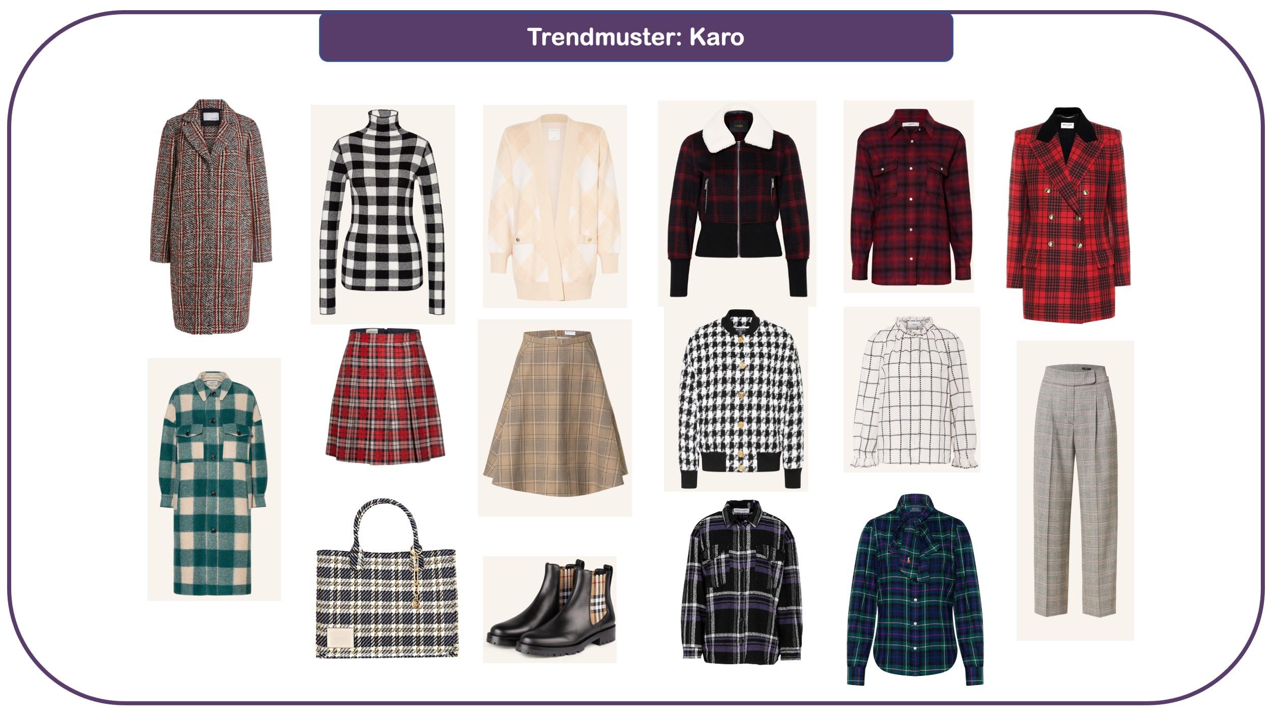 Modetrends für Herbst und Winter 2021/22: Trendmuster Karo