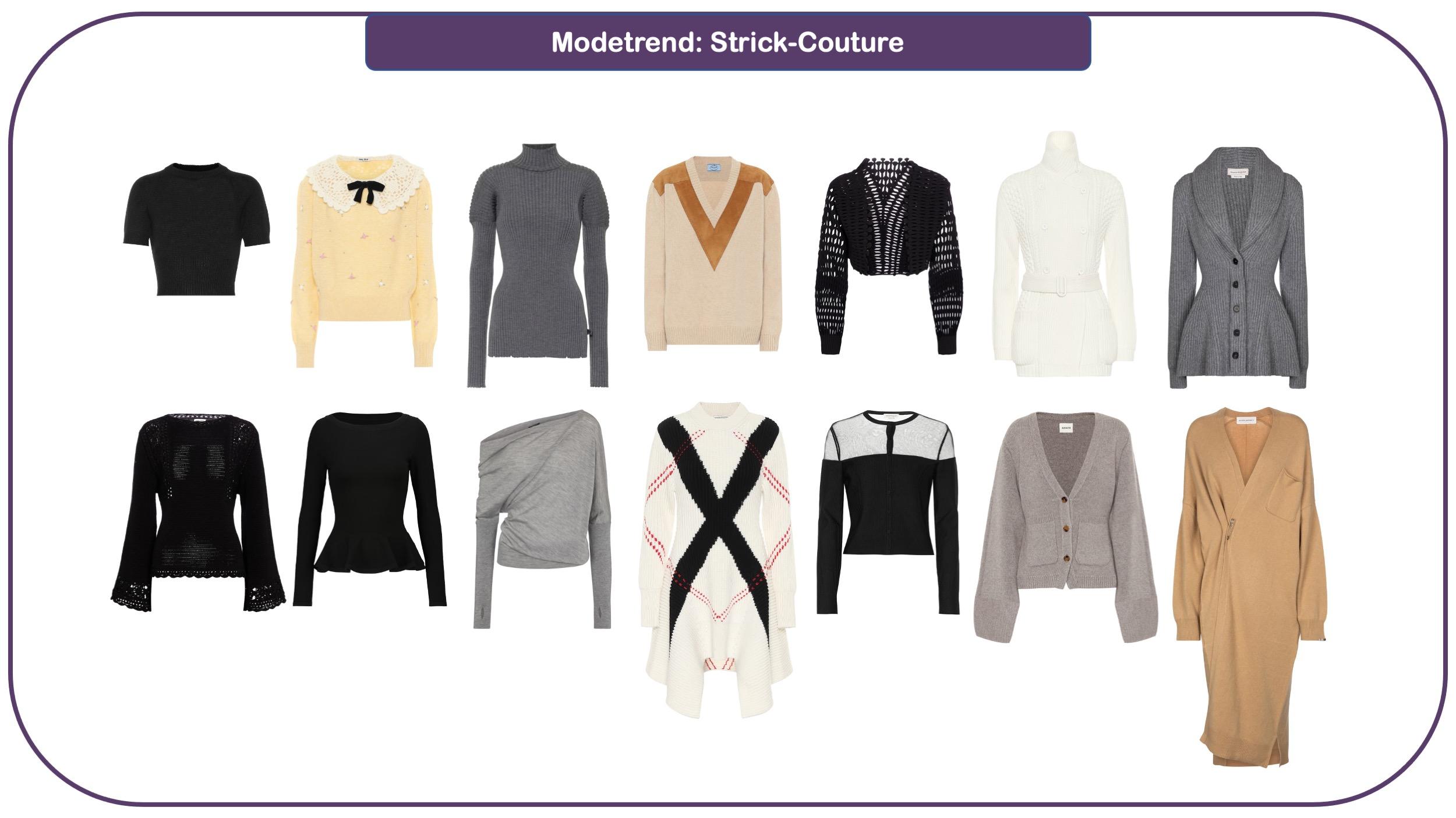 Modetrends für Herbst und Winter 2021/22: Strickwaren