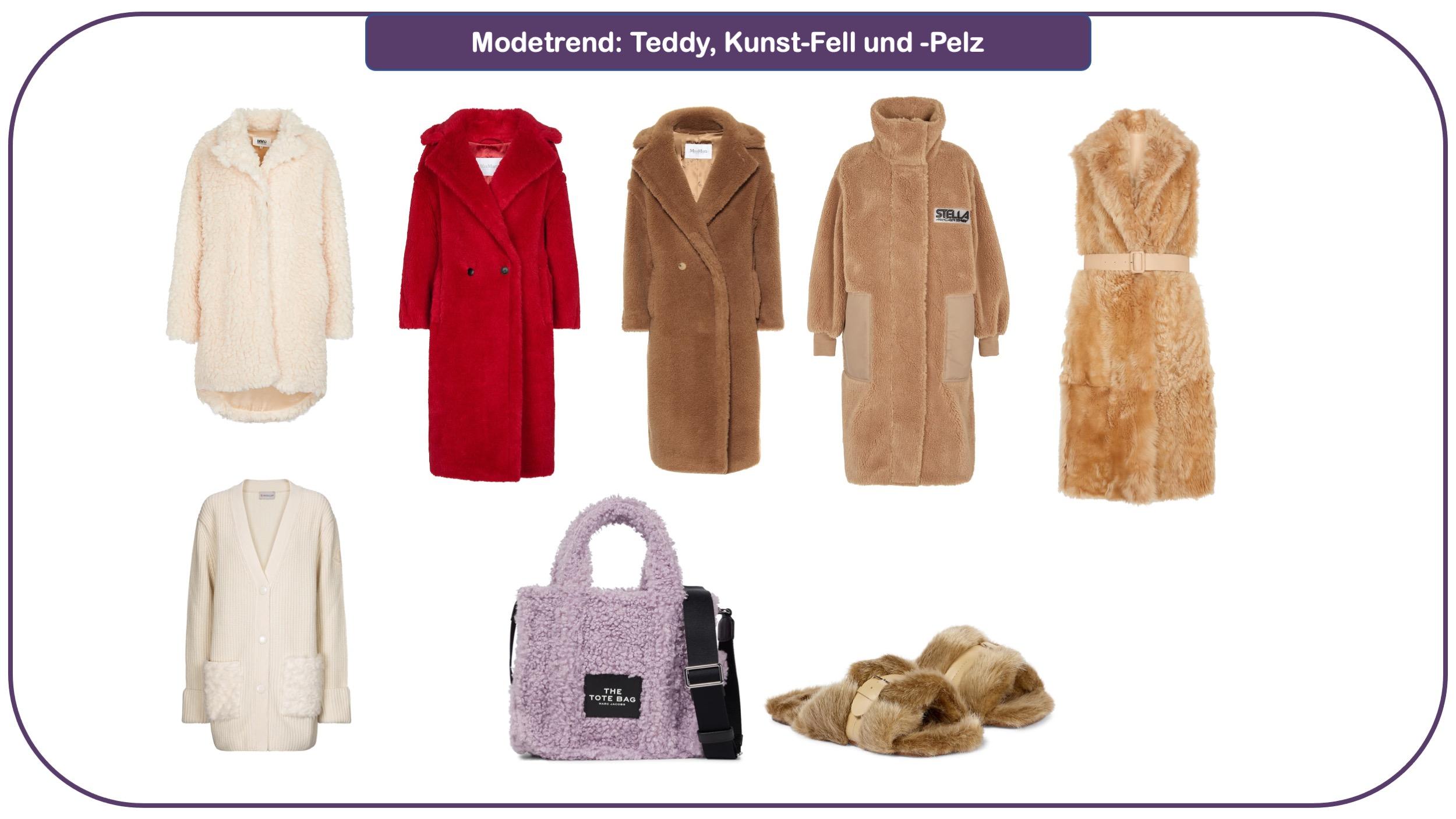 Modetrends für herbst und Winter 2021/22: Teddy, Fell und Pelz
