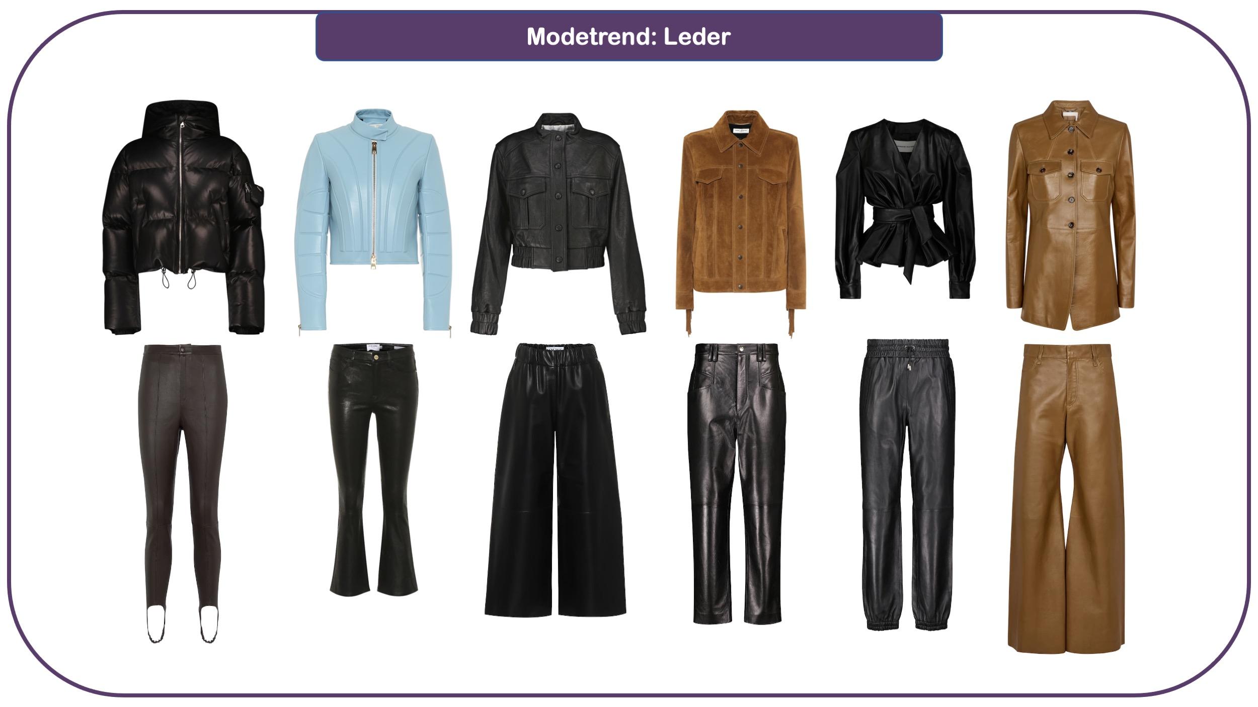 Modetrends für Herbst und Winter 2021/22: Leder