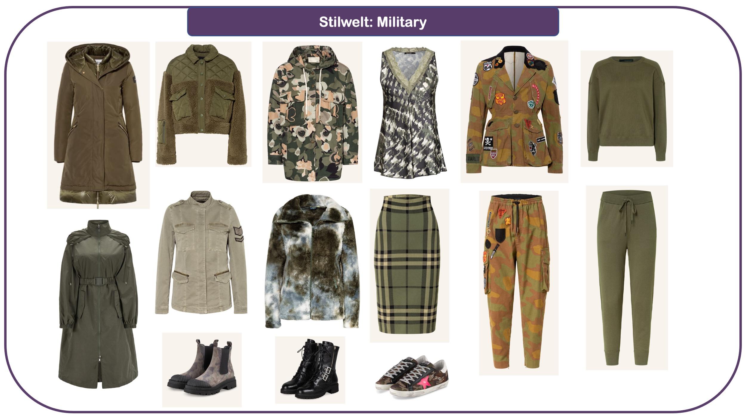 Modetrends für Herbst und Winter 2021/22 - Military Chic