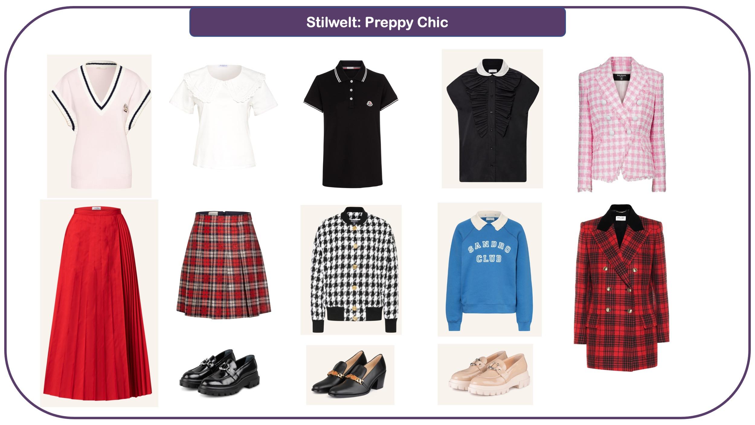 Modetrends für Herbst und Winter 2021/22 - Preppy Chic