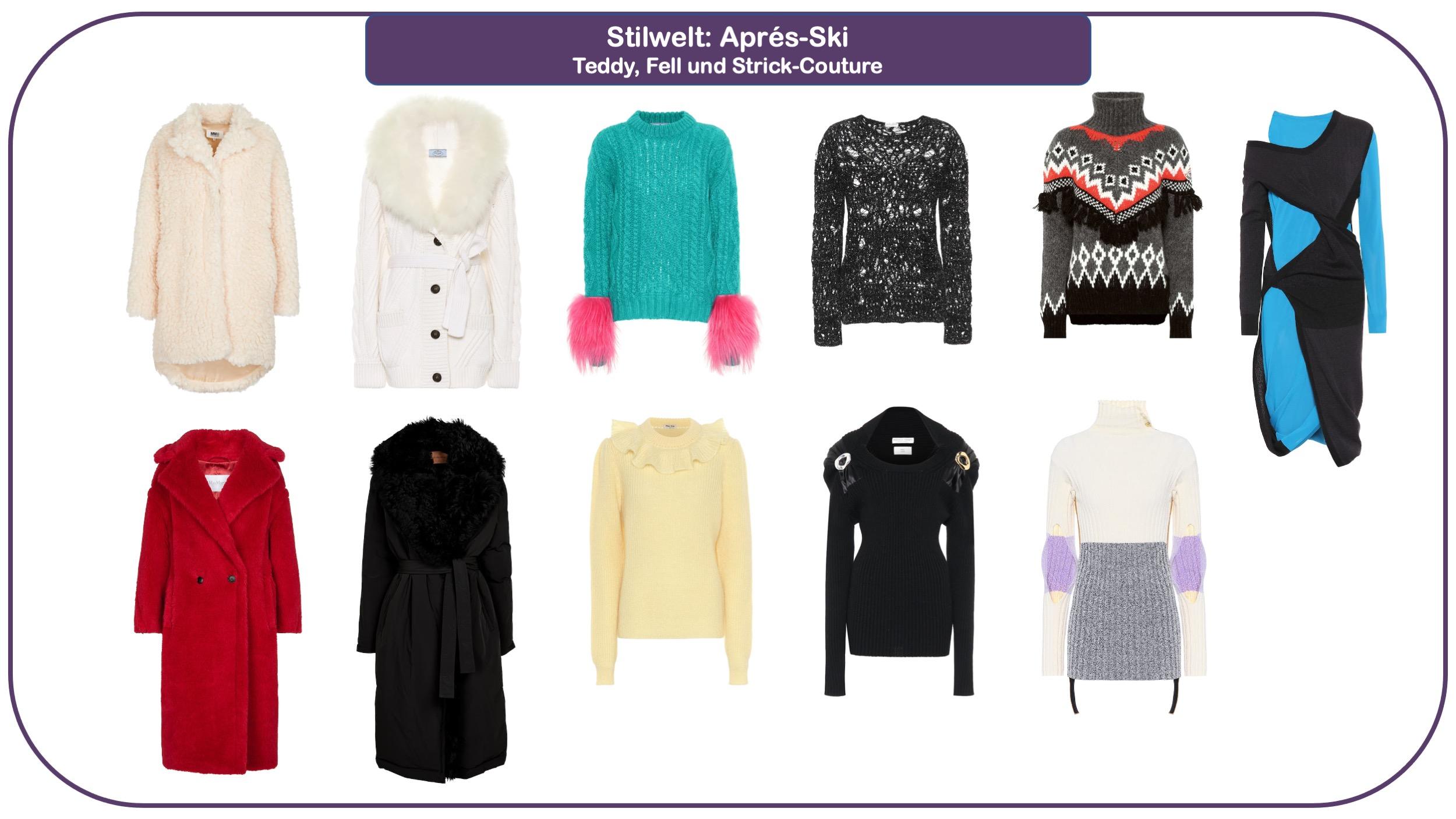 Modetrends für Herbst und Winter 2021/22 - Teddyfell und Stricksachen