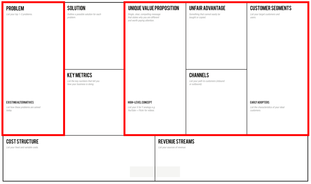 Business Model Canvas / Lean Canvas