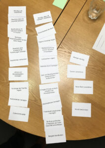 Cardsorting mit Jobs-to-be-done