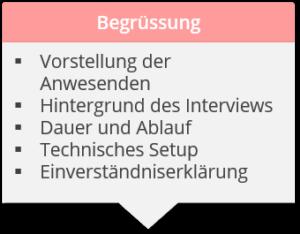 JTBD-Interviews Begrüssung