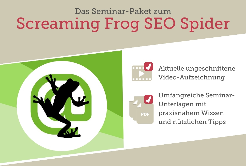 Seminar-Paket: Screaming Frog SEO Spider