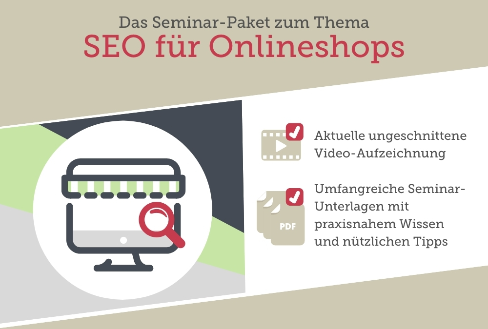 Seminar-Paket: SEO für Onlineshops