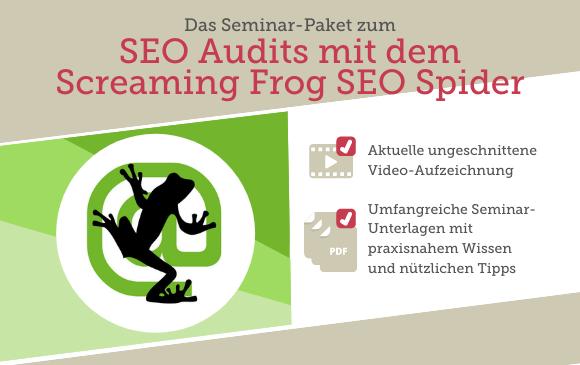 Seminar-Paket: SEO Audits mit dem Screaming Frog SEO Spider