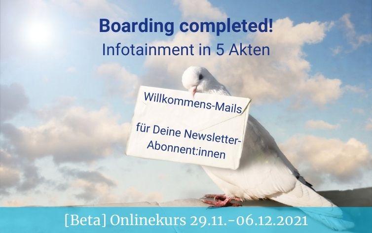 "Newsletter Onlinekurs ""Boarding completed"" in der kumulus Social Media Akademie"