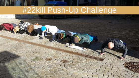 Reich an Erfahrung und an Wissen durch die #22kill oder #17kids Push-Up Challenge PTBS