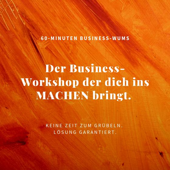 Business-Workshop mit Wums